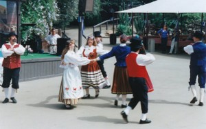Gypsy performing an Estonian dance 1999