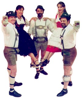 German Oktoberfest Dancers ready for a polka