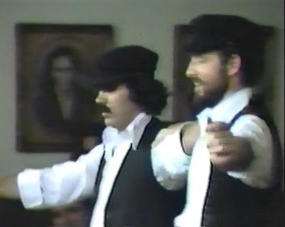 Greek Dancers Performing Zorba's Dance at a holiday party